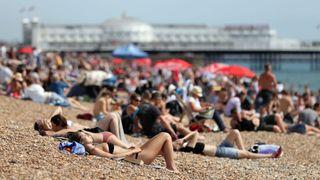 Brighton Beach in Sussex