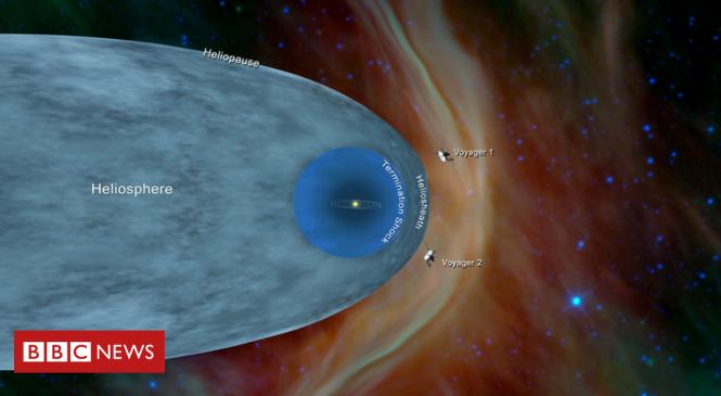 Nasa's Voyager 2 probe 'leaves the Solar System'