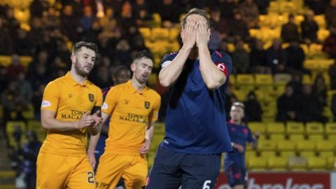Livingston 5-0 Hearts: Hosts score five goals and Arnaud Djoum sent off in 14-minute spell
