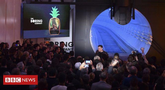 Elon Musk unveils prototype high-speed LA transport tunnel