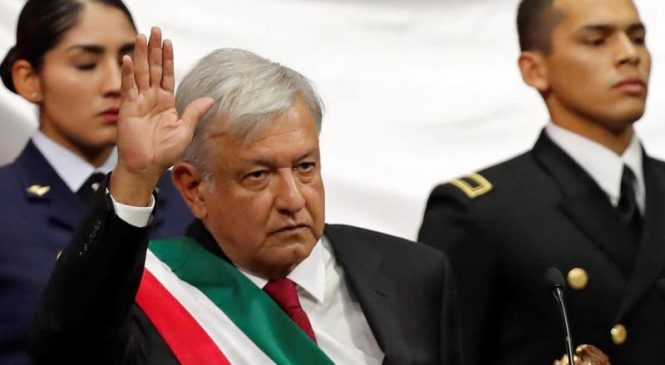 First leftist sworn in as Mexico's president in decades
