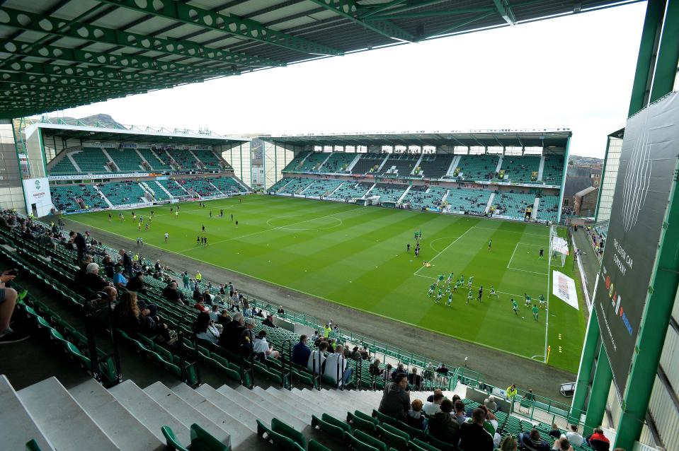 Hibernian's Easter Road stadium.