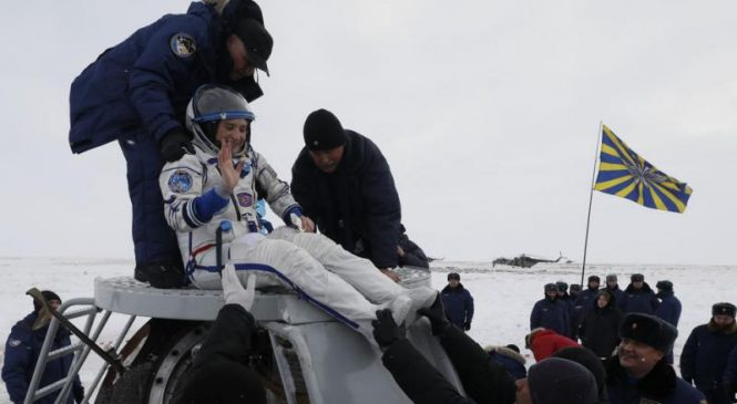 Soyuz capsule returns to Earth from International Space Station