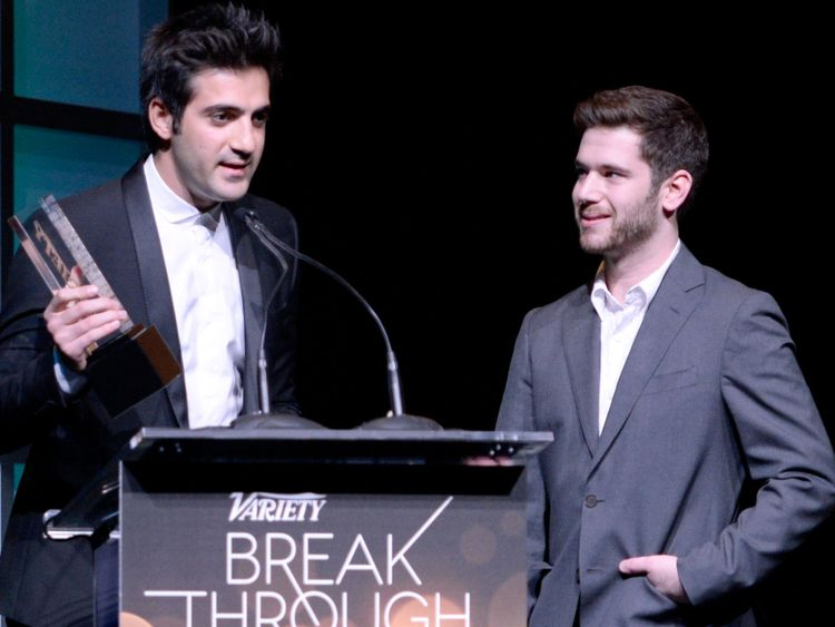 Colin Kroll (R) and business partner Rus Yusupov at the 2014 Variety Breakthrough of the Year Awards
