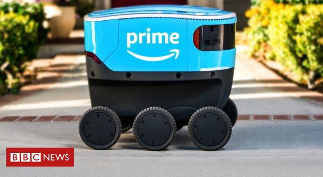 Amazon Scout robots take to pavements in Washington State