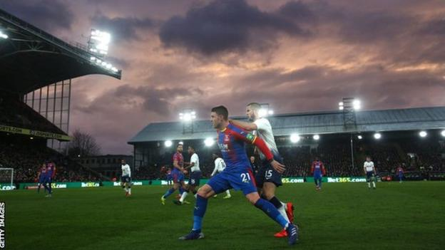 Crystal Palace 2-0 Tottenham Hotspur in the FA Cup fourth round