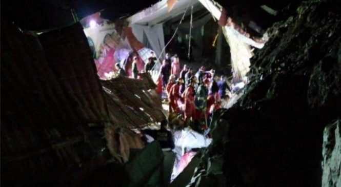 15 killed after landslide collapses wall at wedding in Peru