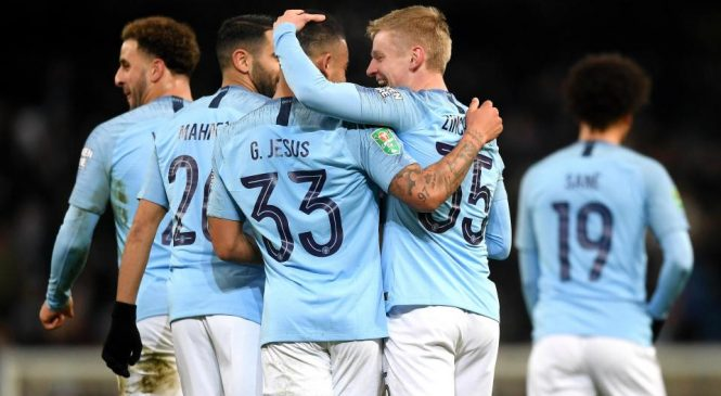 Manchester City 9-0 Burton Albion: Pep Guardiola's ruthless side thrash League One opponents in Carabao Cup semi-final first leg