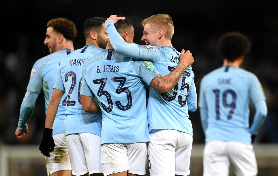 Manchester City hit nine past Burton Albion