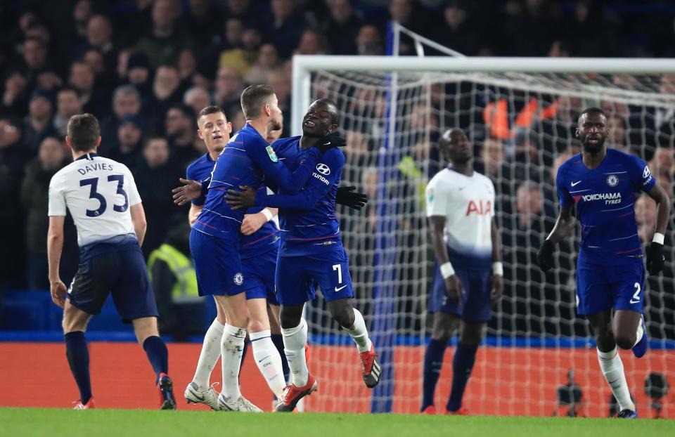 Chelsea beat Tottenham at Stamford Bridge