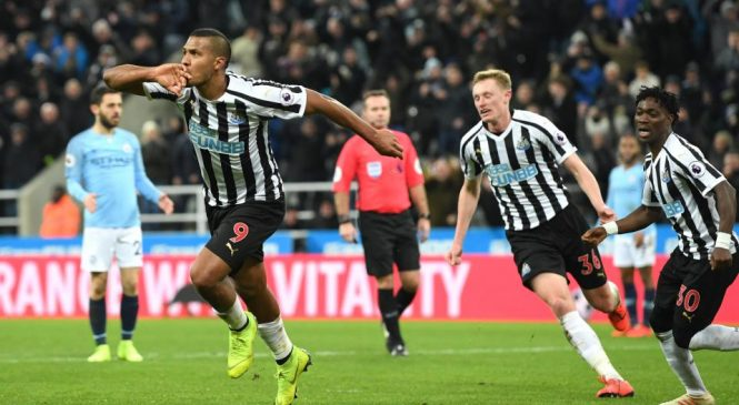 Newcastle United 2-1 Manchester City: Citizens stunned at St James' Park as Newcastle come from behind to give Liverpool the edge in the title race