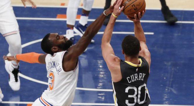 Watch: Warriors' Stephen Curry drills side-step buzzer-beater