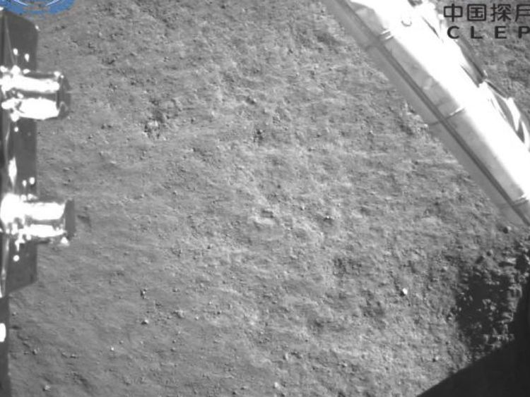 This image of the dark side of the moon is an image taken by the camera when the detector is powered down. Pic: China National Space Administration