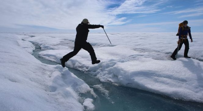Greenland's ice melting four times faster than in 2003
