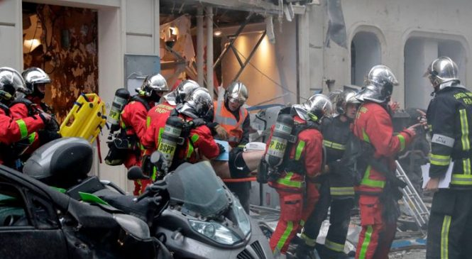 Several hurt as gas leak sparks explosion in central Paris