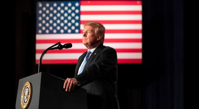 Watch live: Trump promises new missile interceptors and Space Force to protect U.S.