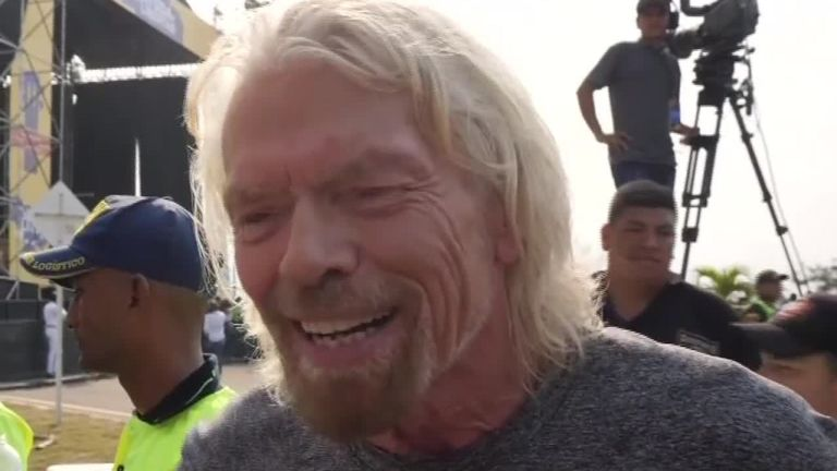 Sir Richard Branson speaks to Sky News