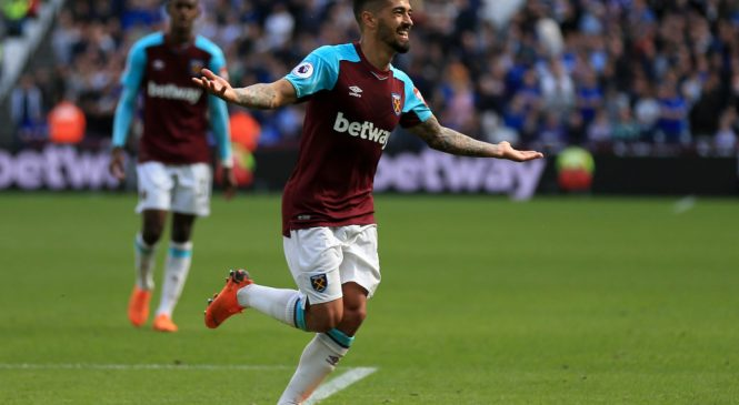 West Ham midfielder Manuel Lanzini set for injury return against Fulham