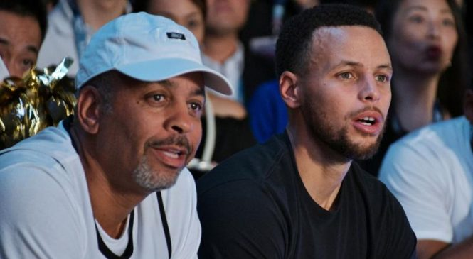 Watch: Stephen Curry's mom, Sonya, shows off range with half-court shot