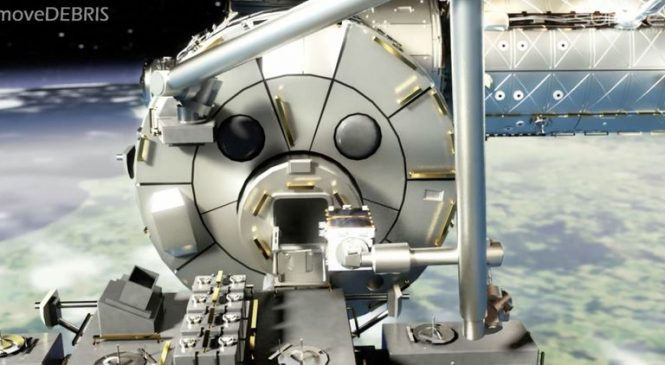 Harpoon to pierce junk tested in space for first time