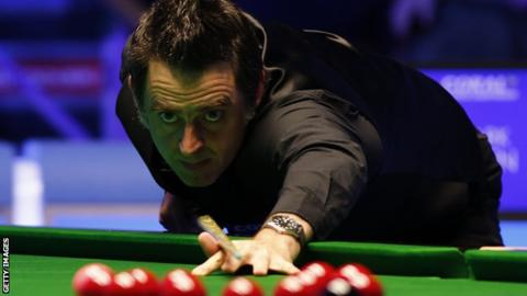 Ronnie O'Sullivan in action at the Players Championship