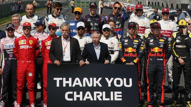 Drivers pay tribute to race director Charlie Whiting