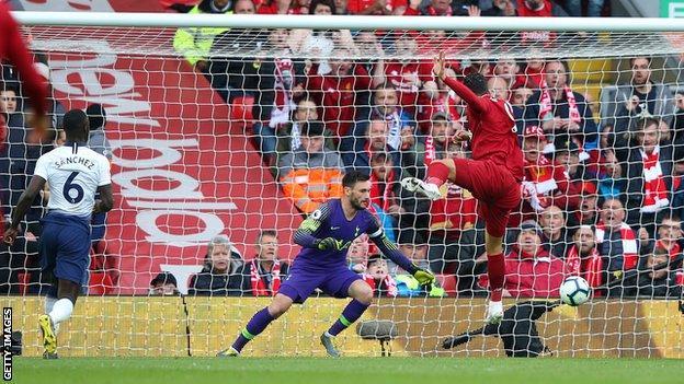 Liverpool 2-1 Tottenham Hotspur: Firmino header helps Reds reclaim top spot