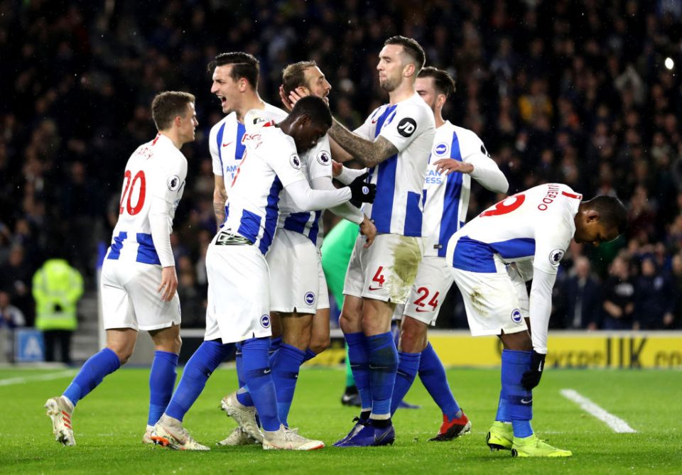 Brighton came out on top in the last meeting between the two in December 2018, winning 3-1