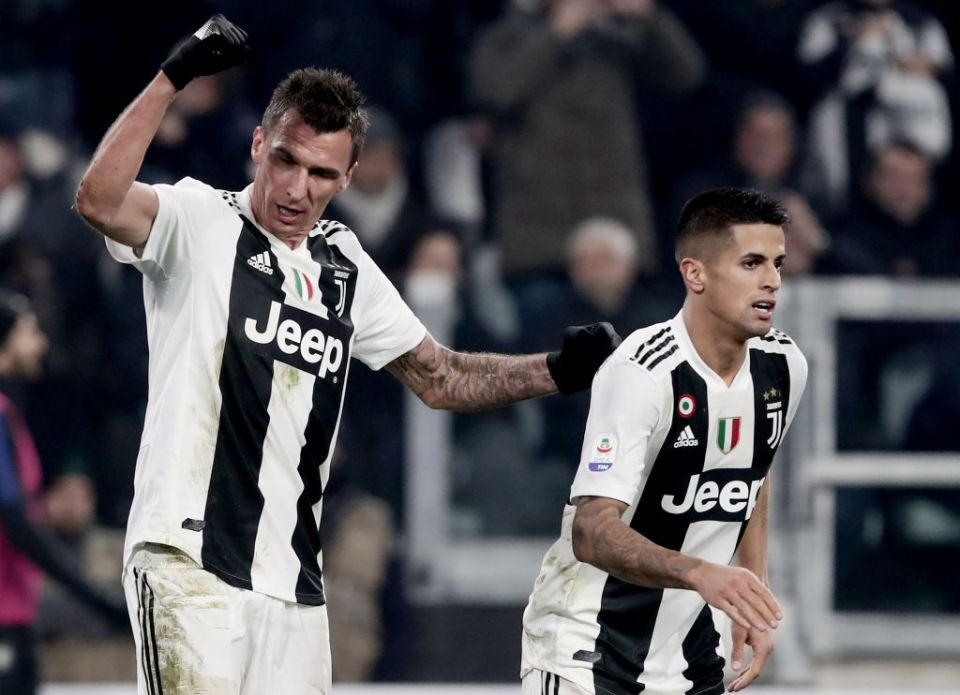 Mario Mandzukic scored the only goal of the game when Juventus last played Inter in December 2018