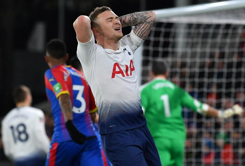 Trippier also missed a penalty for Spurs during their FA Cup defeat to Crystal Palace