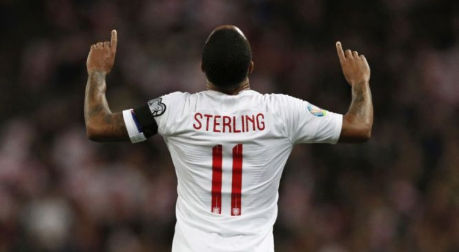 Raheem Sterling: England star leaves heartfelt tribute for Crystal Palace youth player Damary Dawkins after scoring against Czech Republic