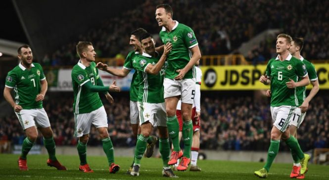 Northern Ireland 2-1 Belarus: Late Josh Magennis strike sees Michael O'Neill's men go top of Euro 2020 qualifying group