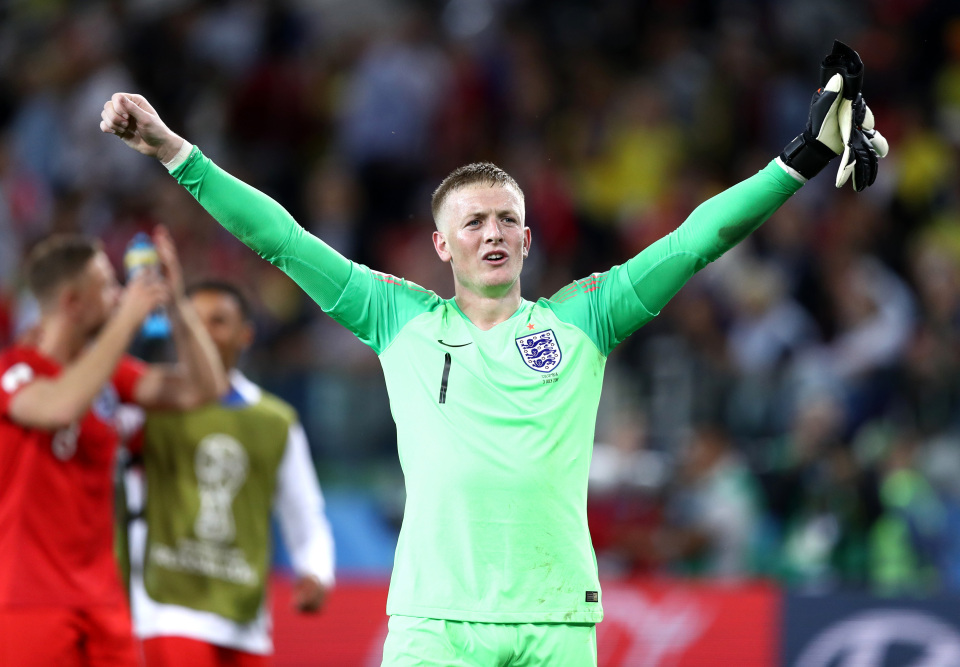 Pickford was one of England's heroes at the World Cup