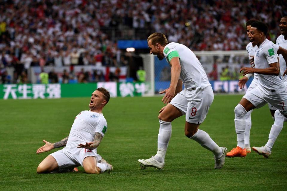 Trippier scored a beautiful free-kick in England's semi-final defeat to Croatia