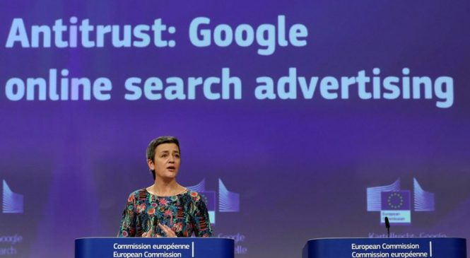 Google fined €1.49bn for restricting rivals' ads