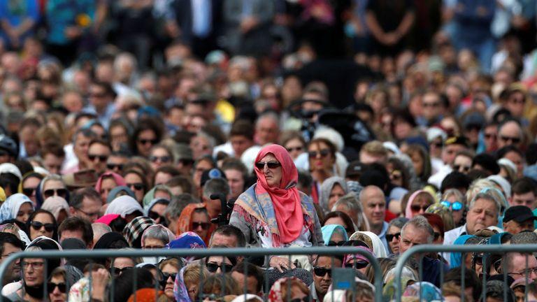 Thousands attend the Hagley Park prayers
