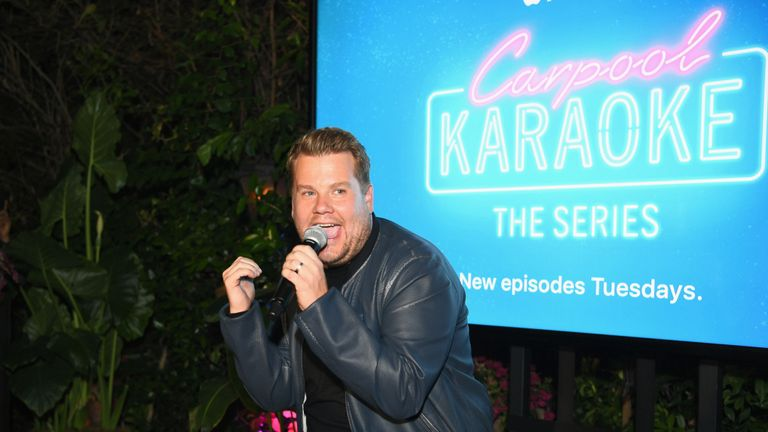 WEST HOLLYWOOD, CA - AUGUST 07: Carpool Karaoke Series Executive Producer James Corden speaks at Apple Music Launch Party Carpool Karaoke: The Series with James Corden on August 7, 2017 in West Hollywood, California. (Photo by Emma McIntyre/Getty Images for Apple)