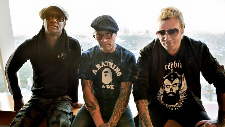 The Prodigy: Liam Howlett (R), Keith Flint (C) and Maxim (L)