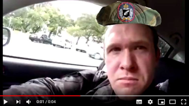 An image of the shooter shows him wearing a photoshopped-on Serbian beret with a silver fern