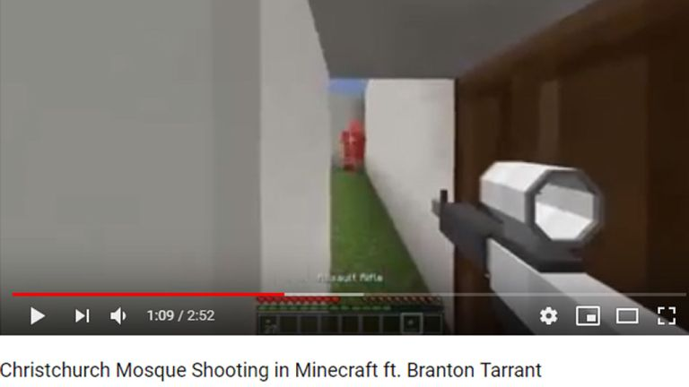 One user recreated the massacre in Minecraft