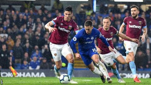 Eden Hazard has scored 16 top-flight goals this season - three behind the Premier League's leading scorer Sergio Aguero