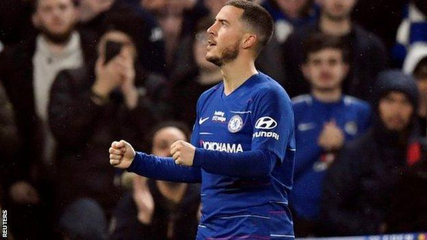 Chelsea 2-0 West Ham United: Eden Hazard double sends Blues third
