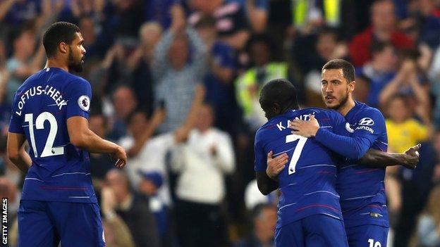 Chelsea 2-2 Burnley: Blues up to fourth after draw with Clarets