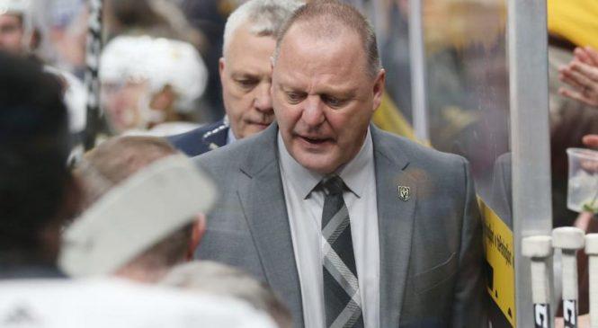 Watch: Golden Knights coach Gerard Gallant calls Sharks' Peter DeBoer 'clown'