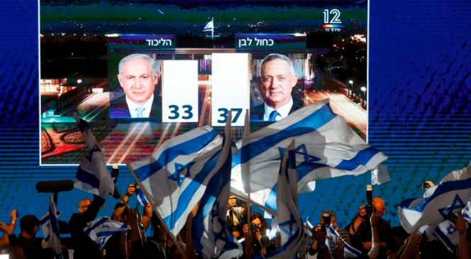 Israel votes: Main rivals claim victory as exit polls offer mixed results