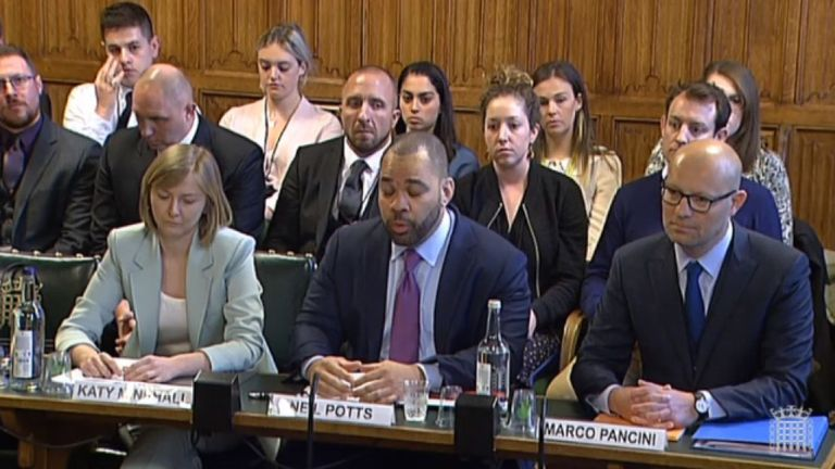 Social media representatives faced MPs on Wednesday