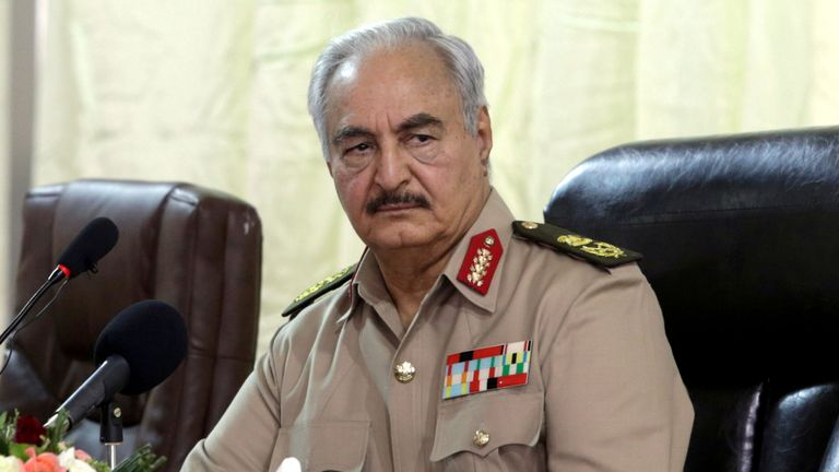Khalifa Haftar leads the Libyan National Army