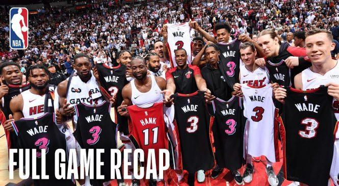 Watch: Dwyane Wade goes for 30 in Heat home finale