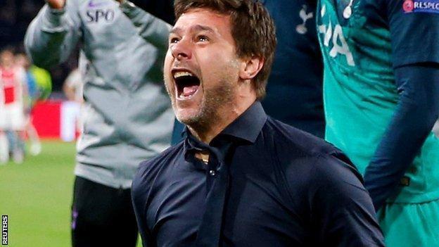 Ajax 2-3 Tottenham (3-3 on aggregate – Spurs win on away goals): Lucas Moura scores dramatic winner