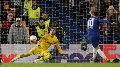 Chelsea 1-1 Eintracht Frankfurt: Blues win 4-3 on penalties to set-up Arsenal final